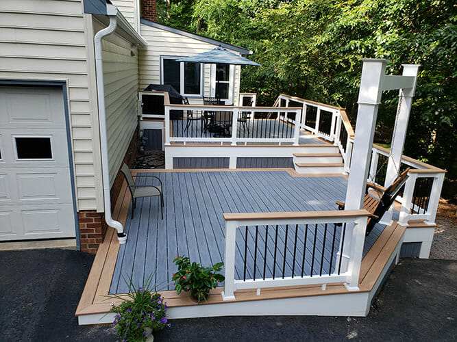 Combs deck project. Side view.